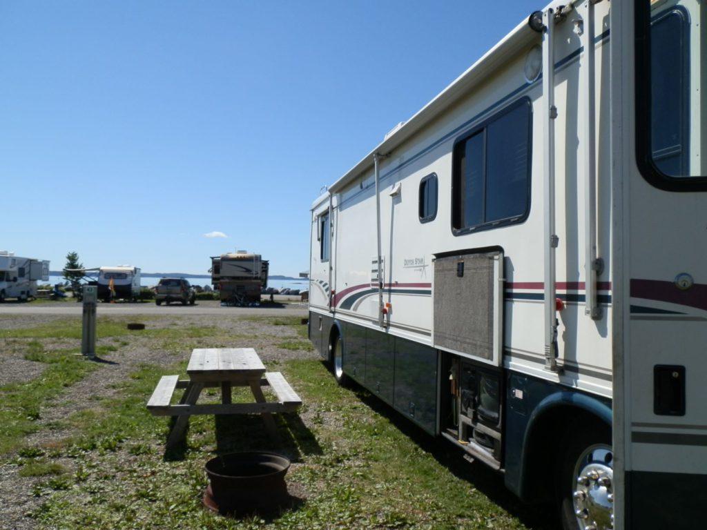 RV ocean camping